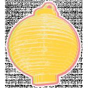 August Garden Party- Lantern Sticker