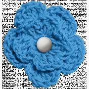 At The Fair- Blue Crochet Flower