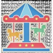 At The Fair- Merry Go Round Sticker