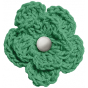 At The Fair- Green Crocheted Flower