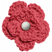 At The Fair- Red Crocheted Flower