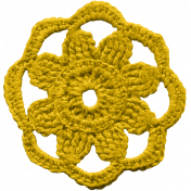 The Veggie Patch- Yellow Crochet Sunflower