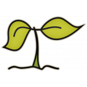 The Veggie Patch- Seedling Sticker