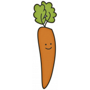 The Veggie Patch- Carrot Sticker