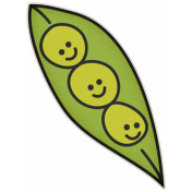 The Veggie Patch- Peas in Pod Sticker