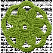 The Veggie Patch- Green Crochet Sunflower