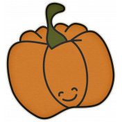 The Veggie Patch- Pumpkin Sticker