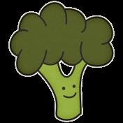 The Veggie Patch- Broccoli Sticker