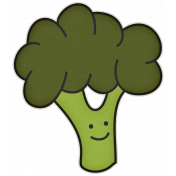 The Veggie Patch- Broccoli Sticker