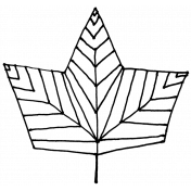 Autumn Art- Maple Leaf Stamp