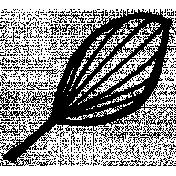Autumn Art- Drawn Leaf 5 Stamp