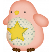 Sweet Dreams-Toy- Penguin- Pink
