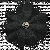 Ride A Bike- Fabric Flower- Black