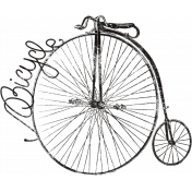 Ride A Bike Word Bits- Bicycle Stamp