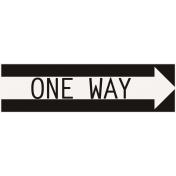 Ride A Bike Word Bits- One Way Arrow