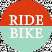 Ride A Bike Word Bits- Ride Bike