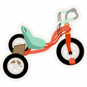 Ride A Bike- Bicycle- Sticker 02