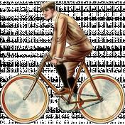 Ride A Bike- Vintage Bicycle Man