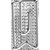 Metal Paper Clips- Ribbon Tag