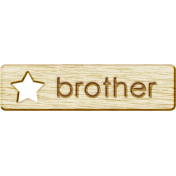 Brothers and Sisters- Brother Wood Veneer