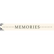 I Love You Man- Memories- Label
