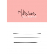 Oh Baby Baby- Six Months- Milestone Card Pink 01