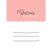 Oh Baby Baby- Eight Months- Milestone Card Pink 01