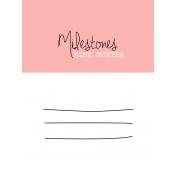 Oh Baby Baby- Nine Months- Milestone Card Pink 01