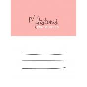 Oh Baby Baby- Ten Months- Milestone Card Pink 01