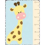 Oh Baby Baby- Giraffe- Journal Card