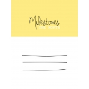 Oh Baby Baby- One Month- Milestone Card Yellow 01