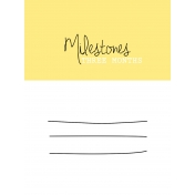 Oh Baby Baby- Three Months- Milestone Card Yellow 01