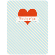 Oh Baby Baby- Thinking Of You- Journal Card
