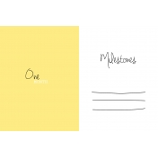 Oh Baby Baby- One Month- Milestone Card Yellow 02