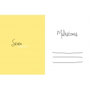 Oh Baby Baby- Seven Months- Milestone Card Yellow 02