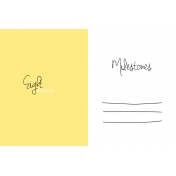 Oh Baby Baby- Eight Months- Milestone Card Yellow 02