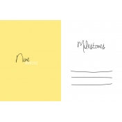 Oh Baby Baby- Nine Months- Milestone Card Yellow 02