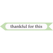Oh Baby Baby- Thankful- Arrow Label