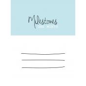 3x4 Milestone Journal Card, Blue, Month 1