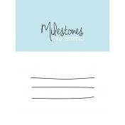 3x4 Milestone Journal Card, Blue, Month 2
