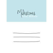 3x4 Milestone Journal Card, Blue, Month 4