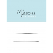 3x4 Milestone Journal Card, Blue, Month 6