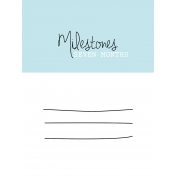 3x4 Milestone Journal Card, Blue, Month 7