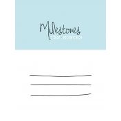 3x4 Milestone Journal Card, Blue, Month 10
