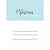 3x4 Milestone Journal Card, Blue, Month 11