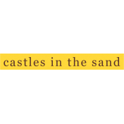 Sand And Beach- Castles in the Sand Word Strip