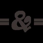 Sand & Beach- Ampersand- Nautical Stamp