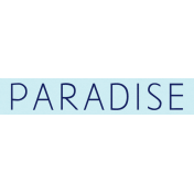 Sand And Beach- Paradise Wordstrip