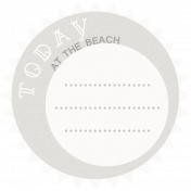 Sand And Beach- Today At The Beach Journal Label