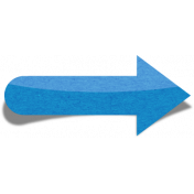 Sand And Beach- Sticker Arrow Peel Blue